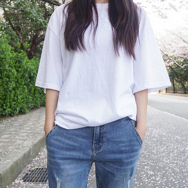ルーズフィットボックス半袖Tシャツ<br> <FONT color=#f91305>(5次リオド着)</font>